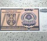 Krajinski dinari 1 milion dinara, 1 000 000 dinara, VF