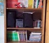Polica za knjige, masivna, hrast