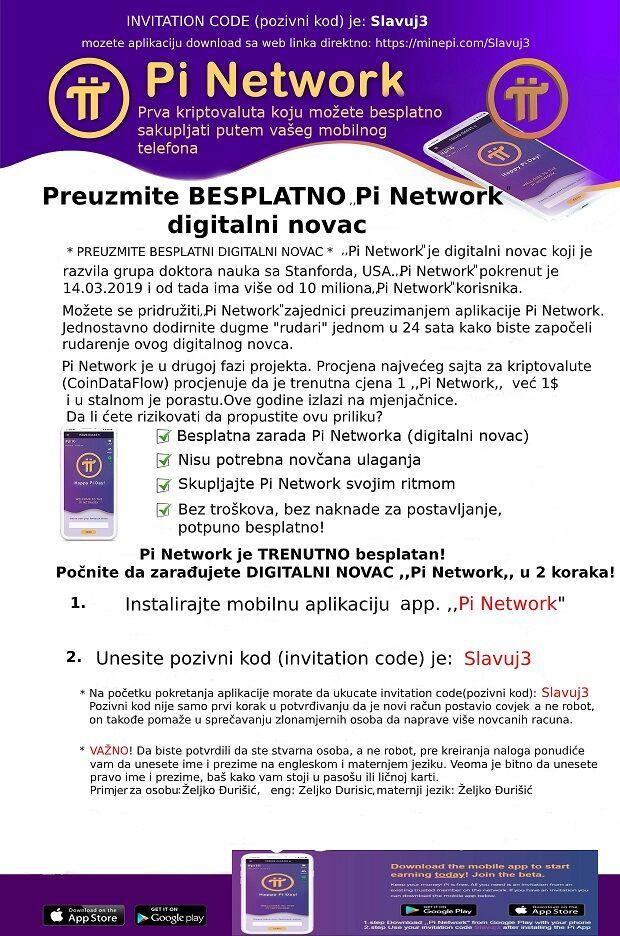 DIGITALNI NOVAC BESPLATNO - app ,,Pi Network,,